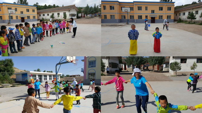On the third day of the program, children and volunteers took a break from their lectures and activities to play games and enjoy the beautiful weather.
