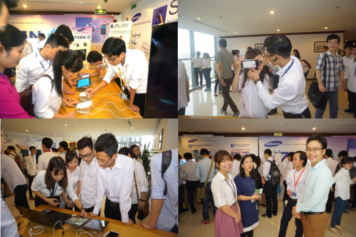 100 technology students from six universities enjoy a hands-on look at Samsung's cutting-edge devices for SVMC Open Day