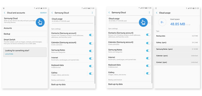how to put contacts on home screen samsung