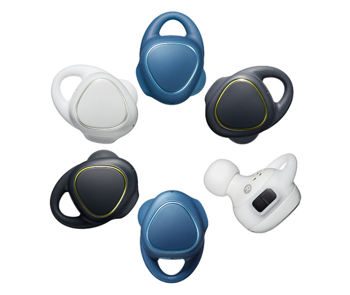 The Gear IconX is available in understated black, white and blue hues. Perfect for use in the gym or on the go