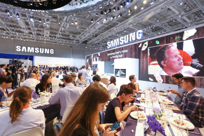 "Samsung's ""Chef's Table with Family Hub"" welcomed approximately 70 lucky guests for a delicious lunchtime show."