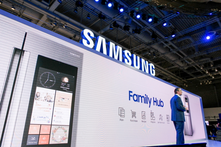 Samsung also announced that its Family Hub refrigerators, another example of how the company is redefining the kitchen experience, are finally coming to Europe.