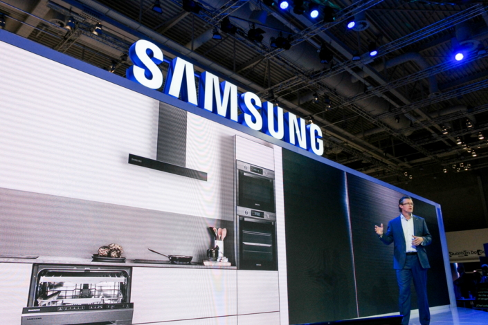 Samsung's new built-in refrigerator: designed specifically with the European market in mind, and stunning inside and out.