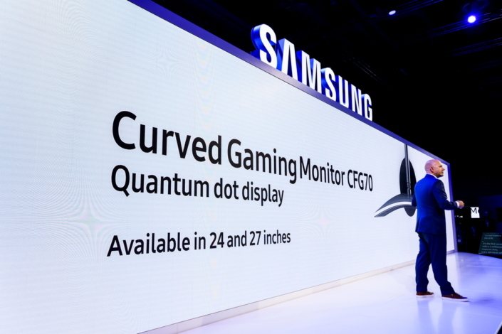 Samsung also unveiled the world's first curved Quantum Dot PC monitors.