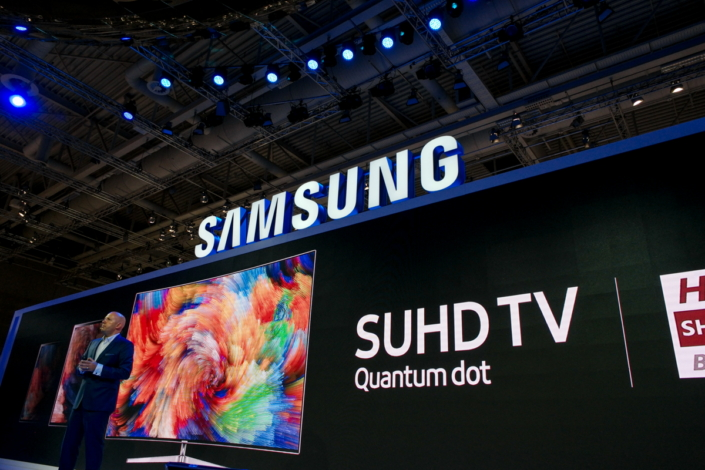 Michael Zoeller, VP and European Head of Visual Display at Samsung Electronics Europe, reveals Samsung's new lineup of SUHD TVs, including the world's largest Quantum Dot TV.