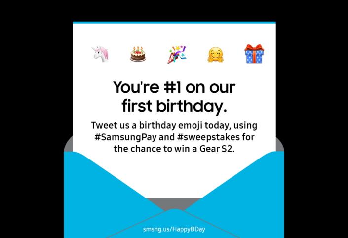 Samsung Pay One Year Anniversary US_Main_1