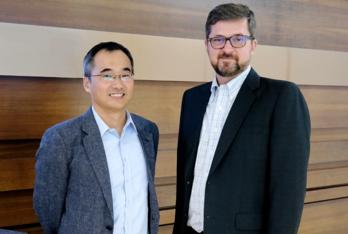 Dr. Woojune Kim (left) and Daryl Schoolar (right)