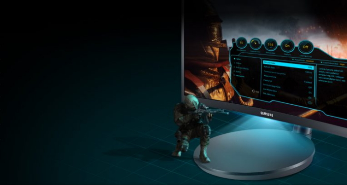 ▲ The CFG70 includes user-friendly Gaming UX on-screen display(OSD) interface