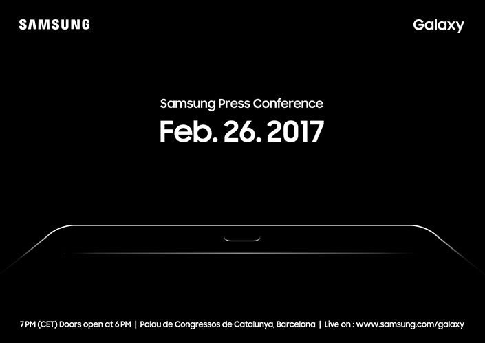 Invitation Samsung Press Conference at MWC 2017 Samsung Global