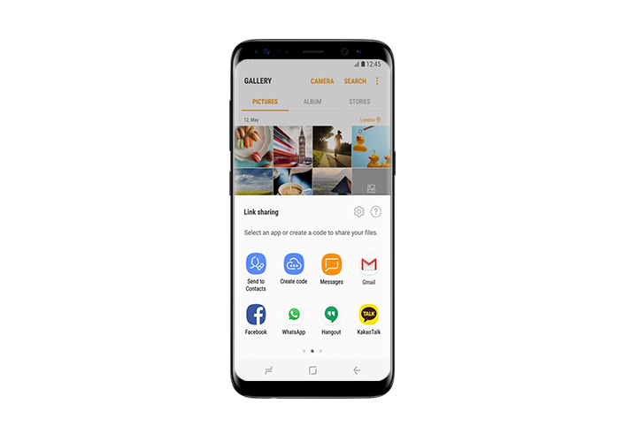 Sharing Links with Samsung S8 and S8+ Cloud