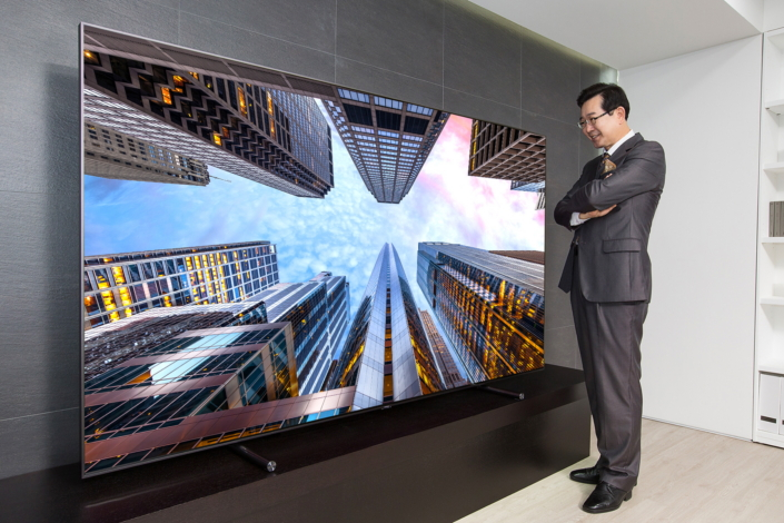 samsung electronics launches 88 inch ultra large qled tv. Black Bedroom Furniture Sets. Home Design Ideas