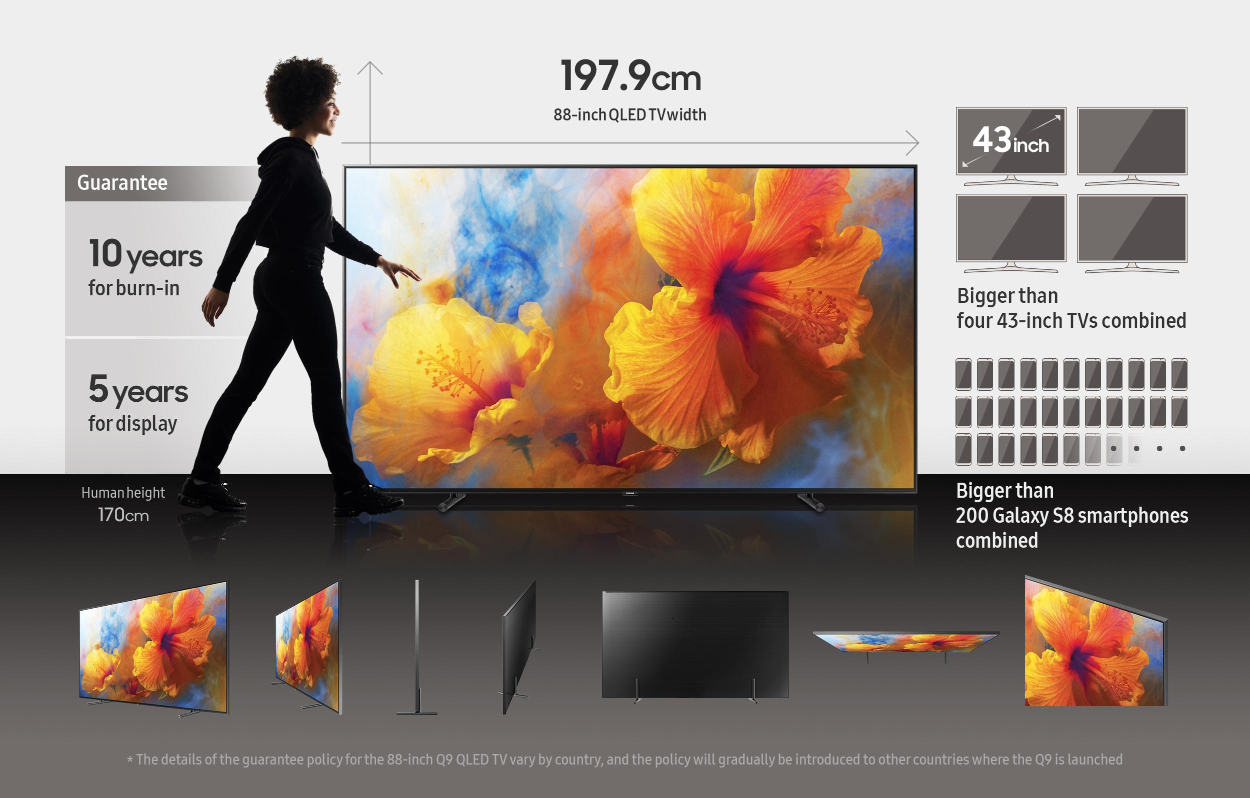 how big is samsung s 88 inch ultra large qled tv samsung global newsroom. Black Bedroom Furniture Sets. Home Design Ideas