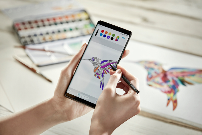 Among the apps latest enhancements include the addition of a digital coloring book with more than 200 coloring templates