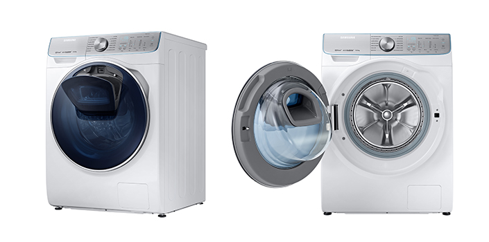 samsung cuts laundry time in half with groundbreaking. Black Bedroom Furniture Sets. Home Design Ideas