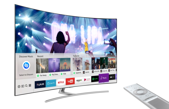 samsung smart tv offers shazam music service to let users identify and stream music while. Black Bedroom Furniture Sets. Home Design Ideas