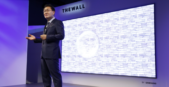 "Samsung Unveils ""The Wall,"" the World's First Modular MicroLED 146"