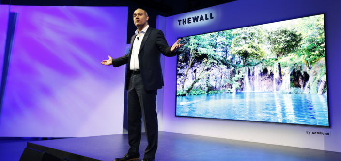 Samsung Unveils The Wall The World S First Modular Microled 146 Inch Tv Samsung Global Newsroom