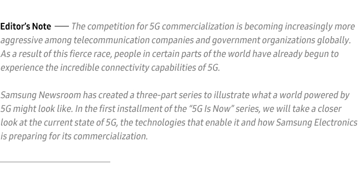 5g Is Now Part 1 2018 The Year Of 5g Samsung Global Newsroom