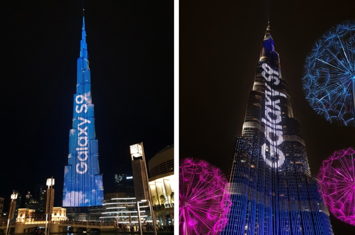 """Samsung Takes """"Do What You Can't"""" to New Heights with the Burj"""