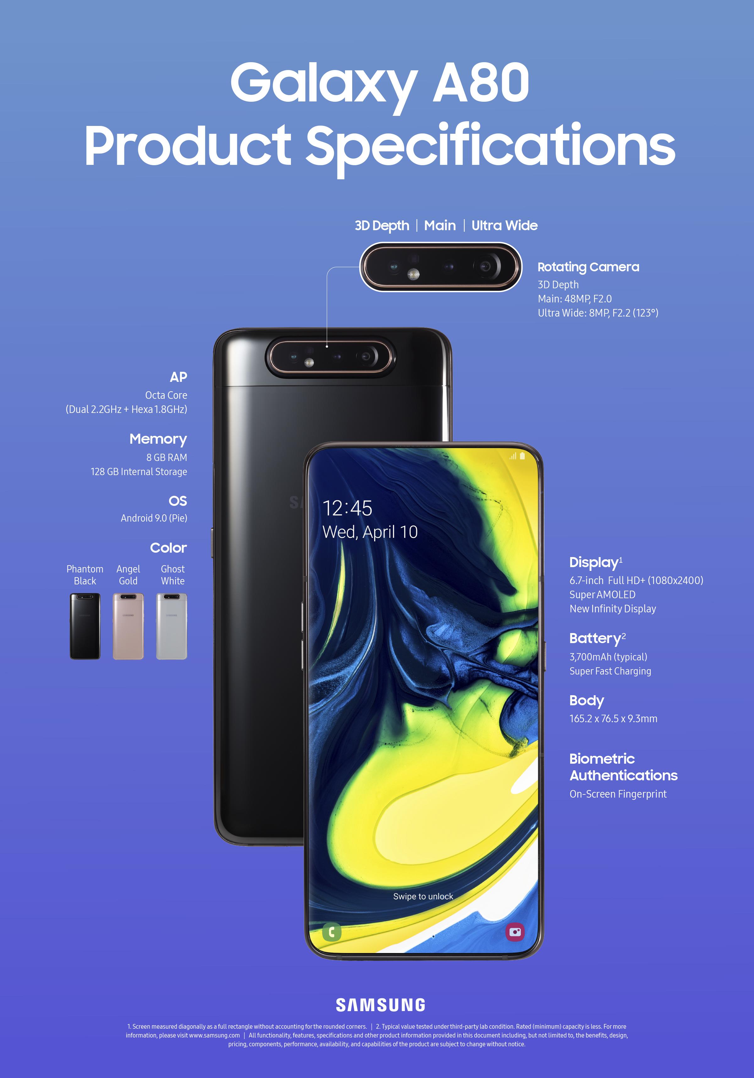 Samsung Galaxy A80规格