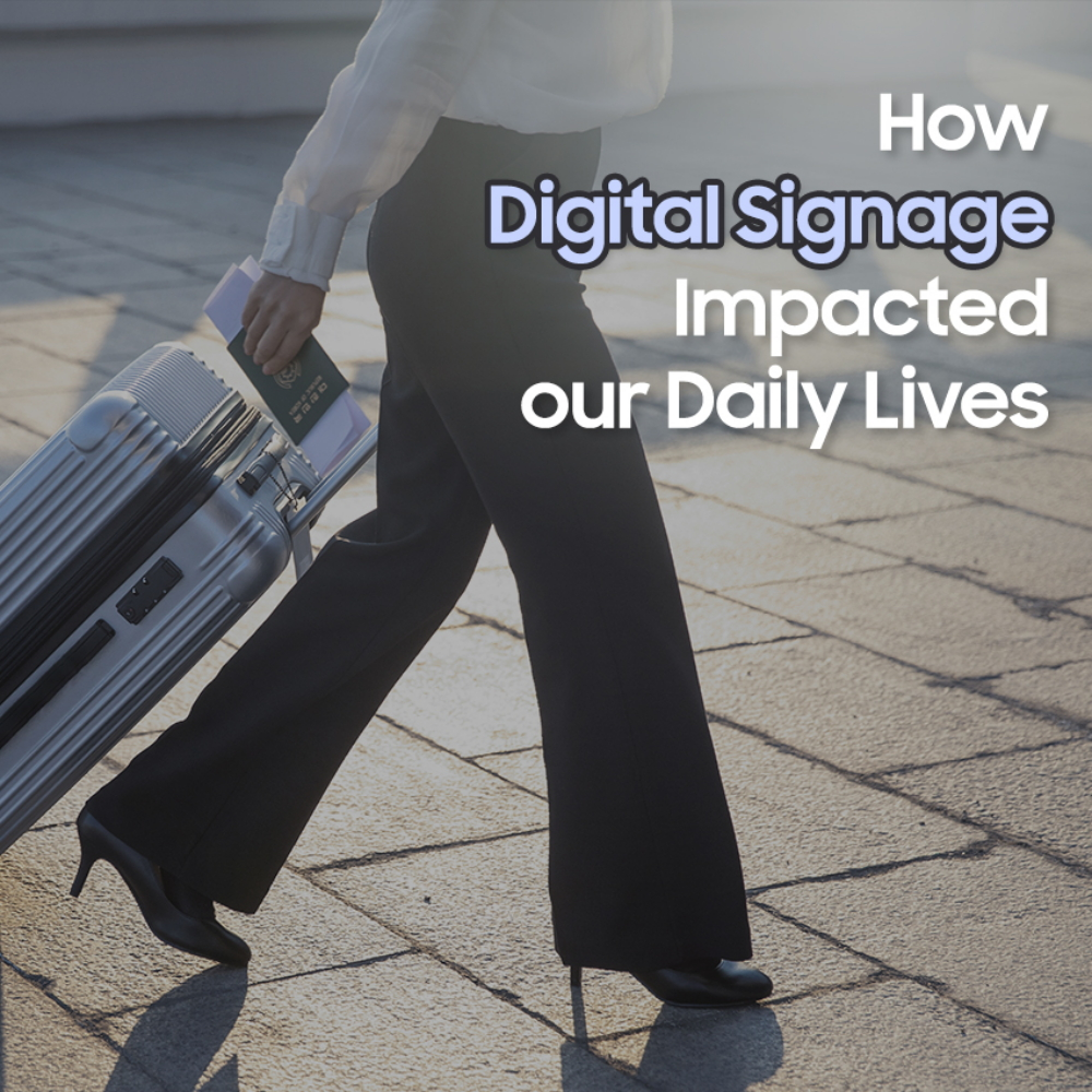 [Samsung's Digital Signage Innovations] ① How Digital Signage Impacts our Daily Lives – Samsung Global Newsroom