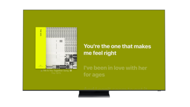 Apple Music Time-synced Lyrics Launches on Samsung Smart TVs Starting Today