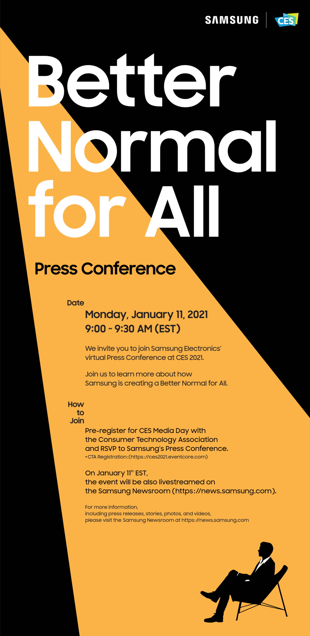 [Invitation] A 'Better Normal for All': Samsung's CES 2021 Press Conference - Image 1