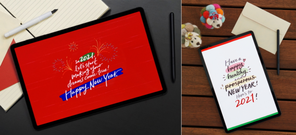 Season's Greetings with a Twist: Master Calligraphy with the Galaxy Tab S7+ - Image 3