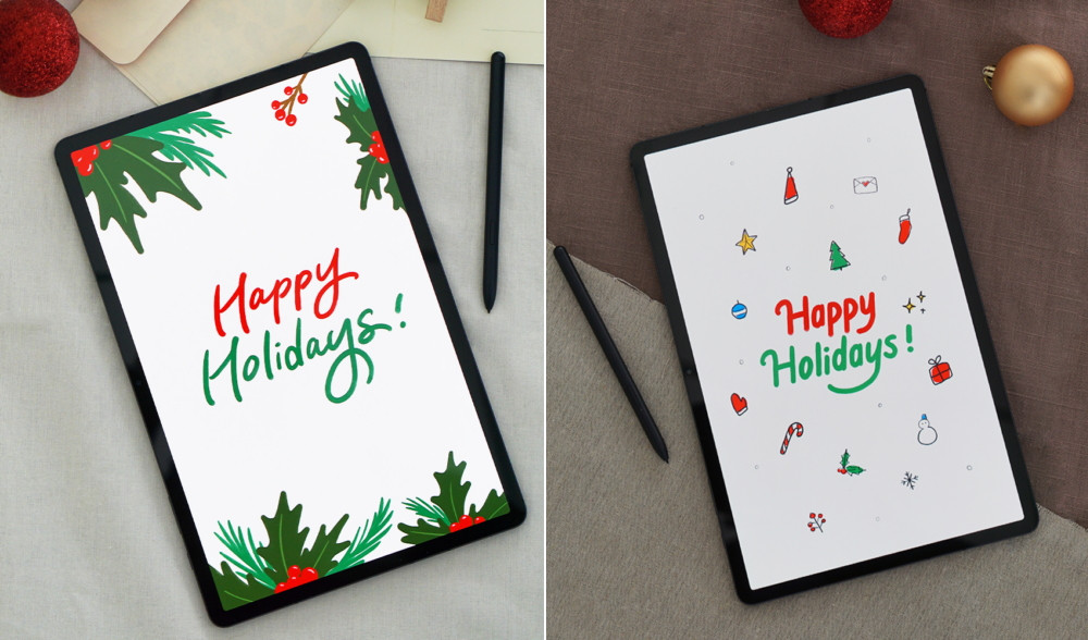 Season's Greetings with a Twist: Master Calligraphy with the Galaxy Tab S7+ - Image 2