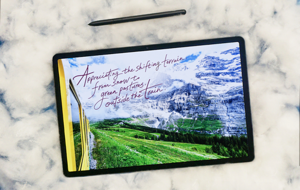 Travel Throwbacks: Reminiscing with Calligraphy on the Galaxy Tab S7+ - Image 6