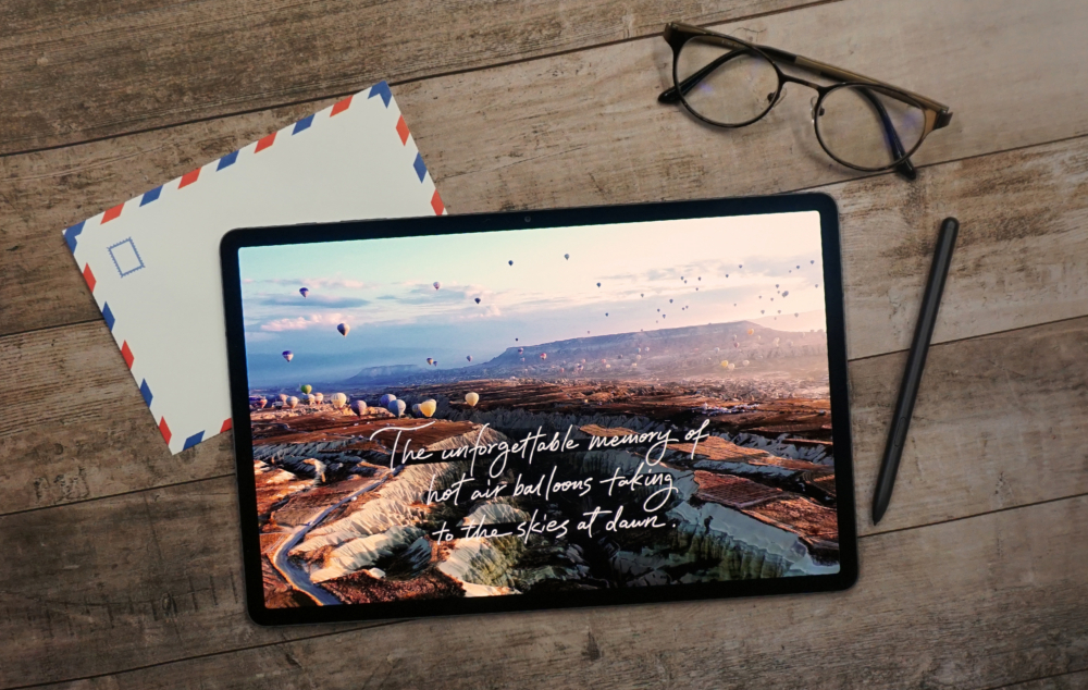 Travel Throwbacks: Reminiscing with Calligraphy on the Galaxy Tab S7+ - Image 1
