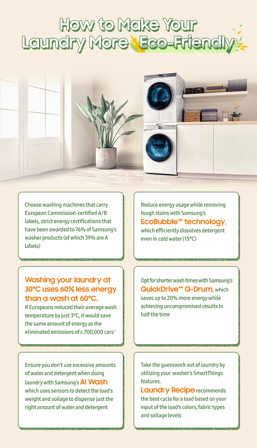 [Infographic] How Samsung's Washing Machines Can Make Your Laundry More Eco-Friendly