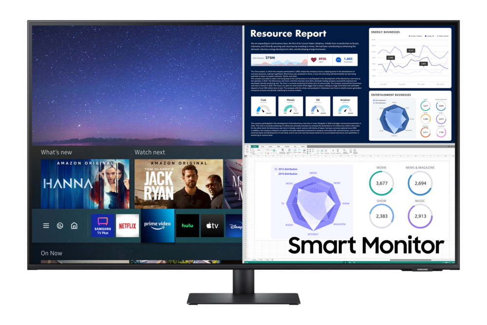 Close up of samsung smart monitor