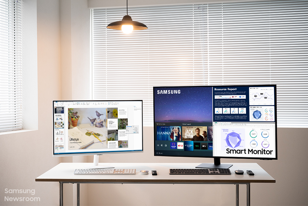 Watching TV and Working on a Single Screen With Samsung's Do-It-All Smart Monitor – Samsung Global Newsroom