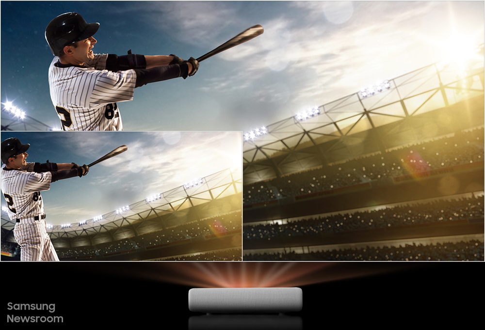 Bring the Excitement of the Stadium Directly Into Your Home With Samsung's Lifestyle Projector The Premiere