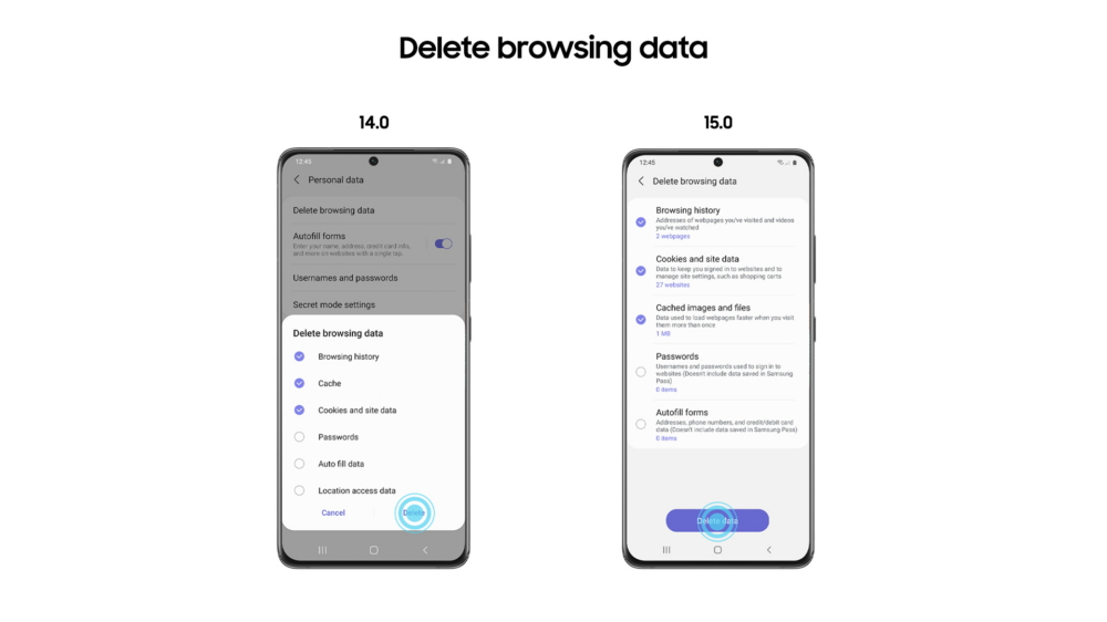 Samsung Internet 15.0, Cyber Security, A look at the beta version of Samsung Internet 15.0