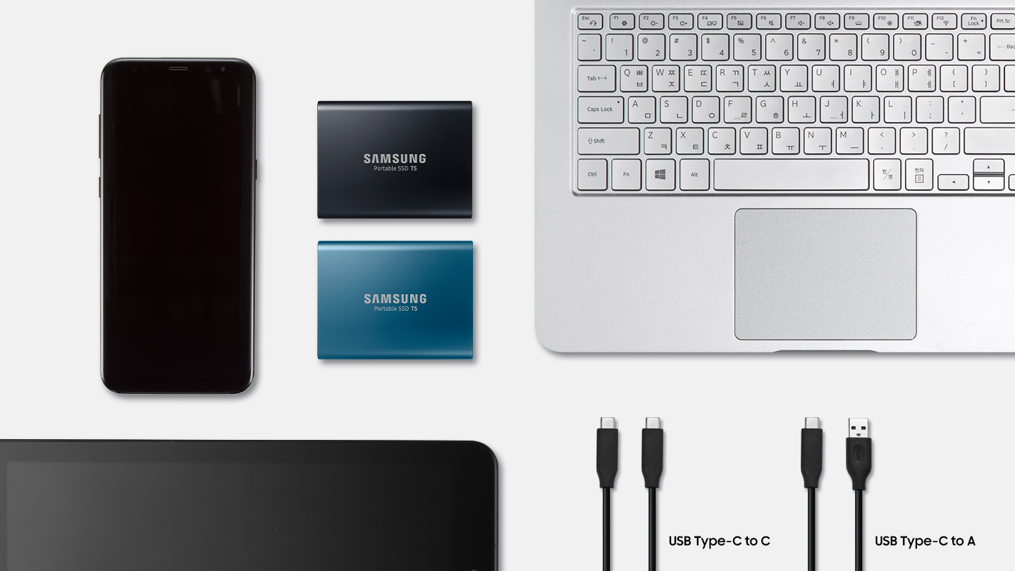 USB type C and Multi Platform Support - SSD T5