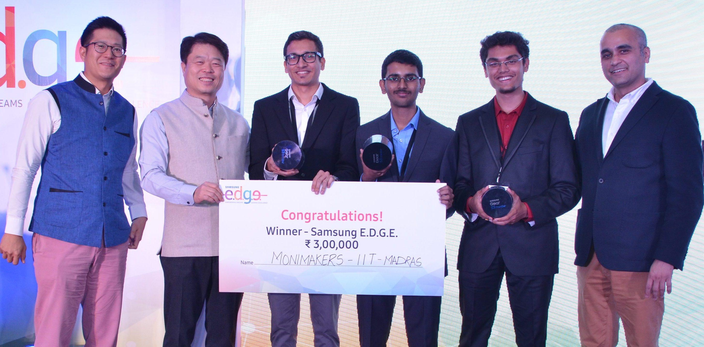 Samsung EDGE winning team