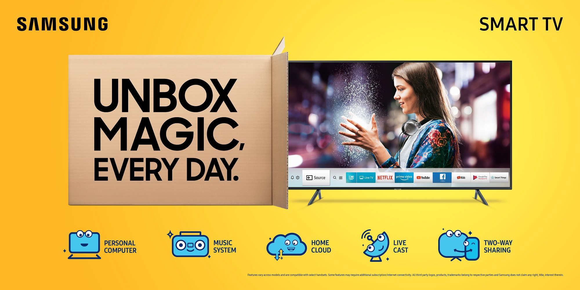 Samsung Redefines 'Smart' in Televisions, Launches Unbox