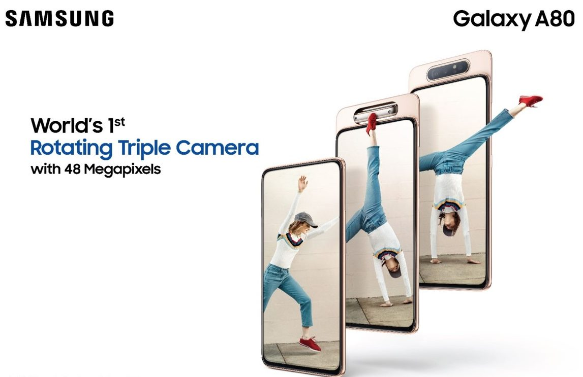 Samsung Unveils Galaxy A80 with World's First 48MP Rotating