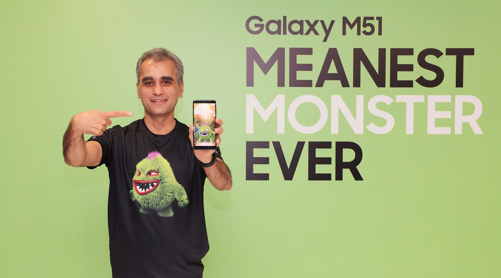 Samsung Launches Galaxy M51 In India Its Meanest Monster Ever With 7000mah Battery Samsung Newsroom India