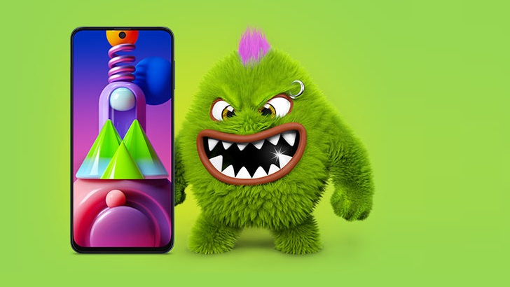 Mo B The Monster Takes On The New Galaxy M51 In Samsung India S Meanest Monster Ever Campaign Samsung Newsroom India