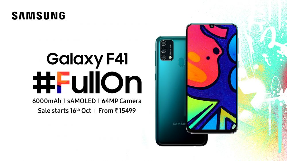 Samsung Launches Galaxy F41 In India The Fullon Smartphone For Young Shoppers This Festive Season Samsung Newsroom India