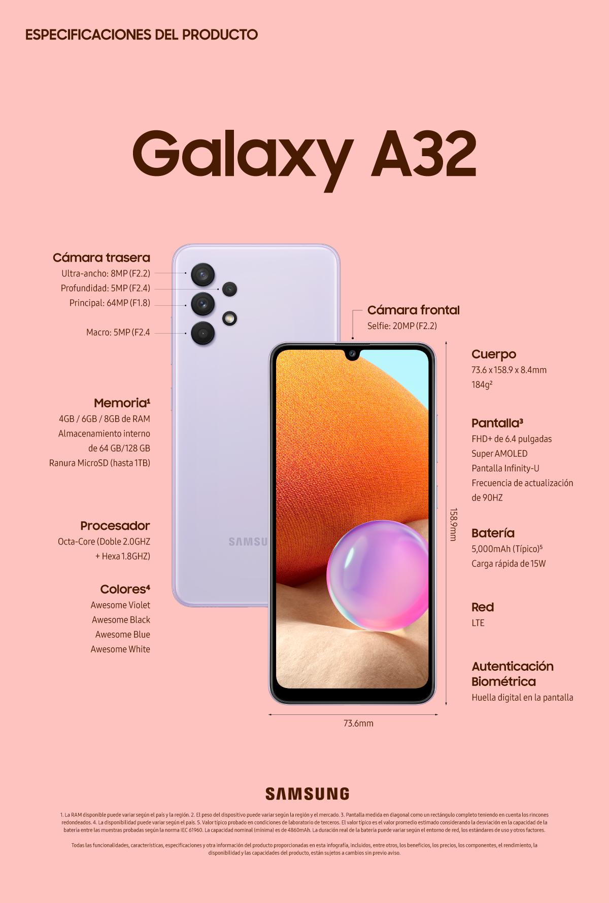 Especificaciones] Descubre más de lo que te encanta con el Galaxy A32 – Samsung Newsroom Latinoamérica