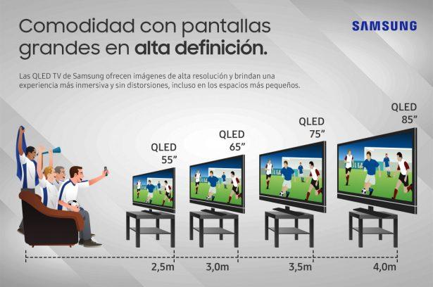 3 tips para disfrutar al m ximo la nueva samsung qled tv - Distancia para ver tv led ...