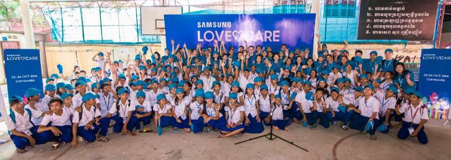 Employee Volunteers from Samsung Southeast Asia & Oceania Extend Love and Care to Local Community in Cambodia
