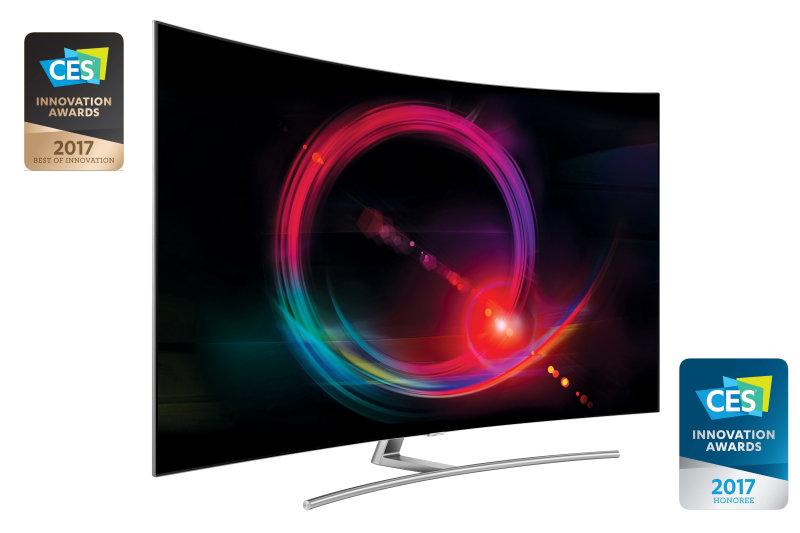 Samsung QLED TV Sweeps Major TV Awards, Including CES 2017 'Best of Innovation