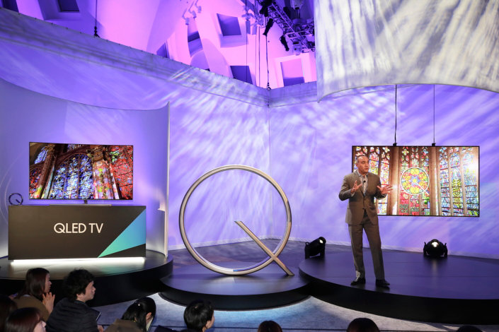 Samsung Gives World First Look at its New QLED TVs