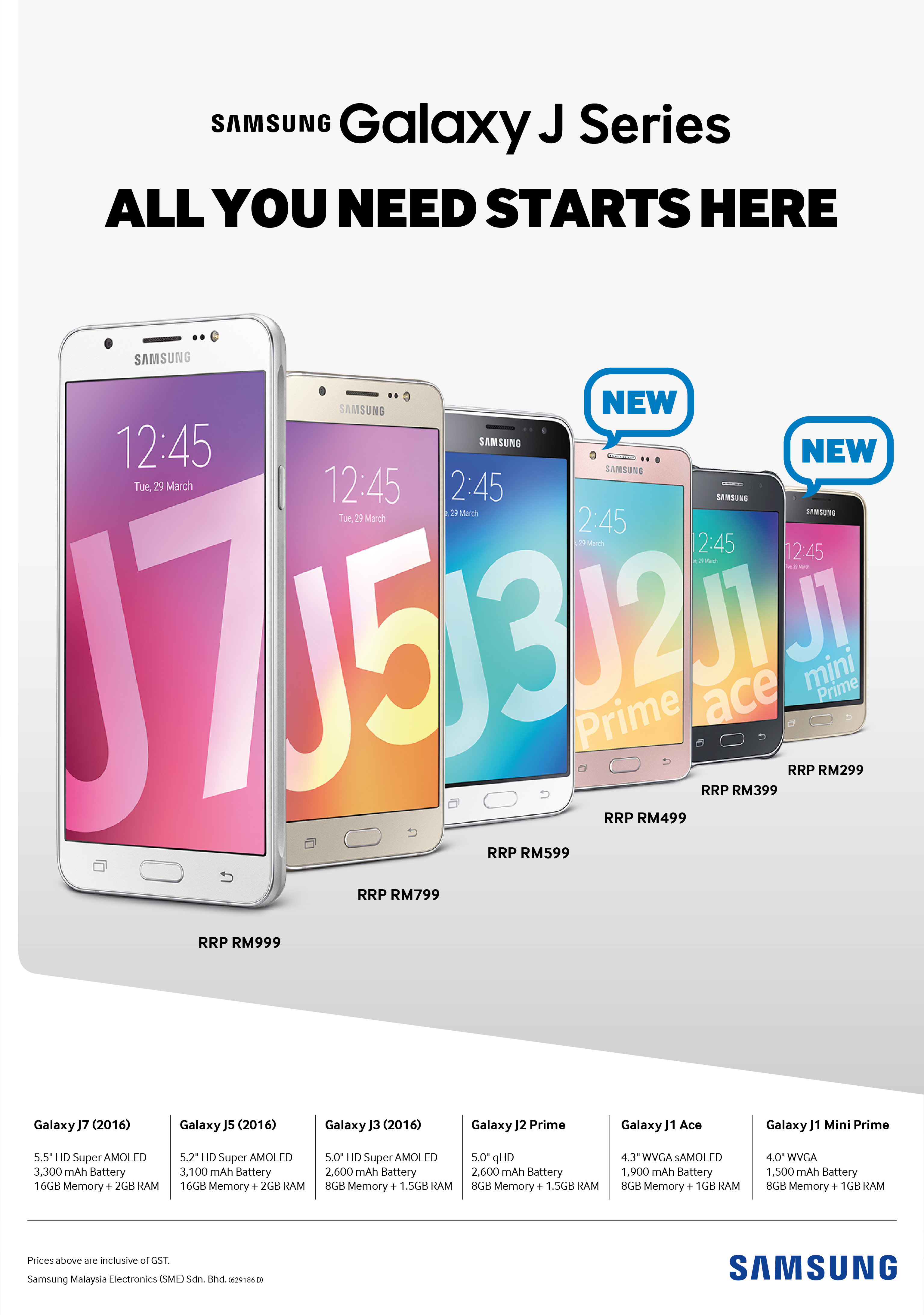 The Galaxy J Series (2016): All You Need Starts Here!