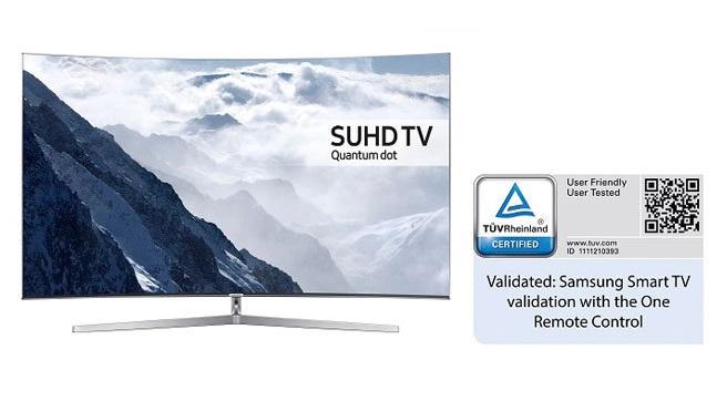 Samsung's 2016 Smart TVs Certified by Germany's TÜV Rheinland for Usability